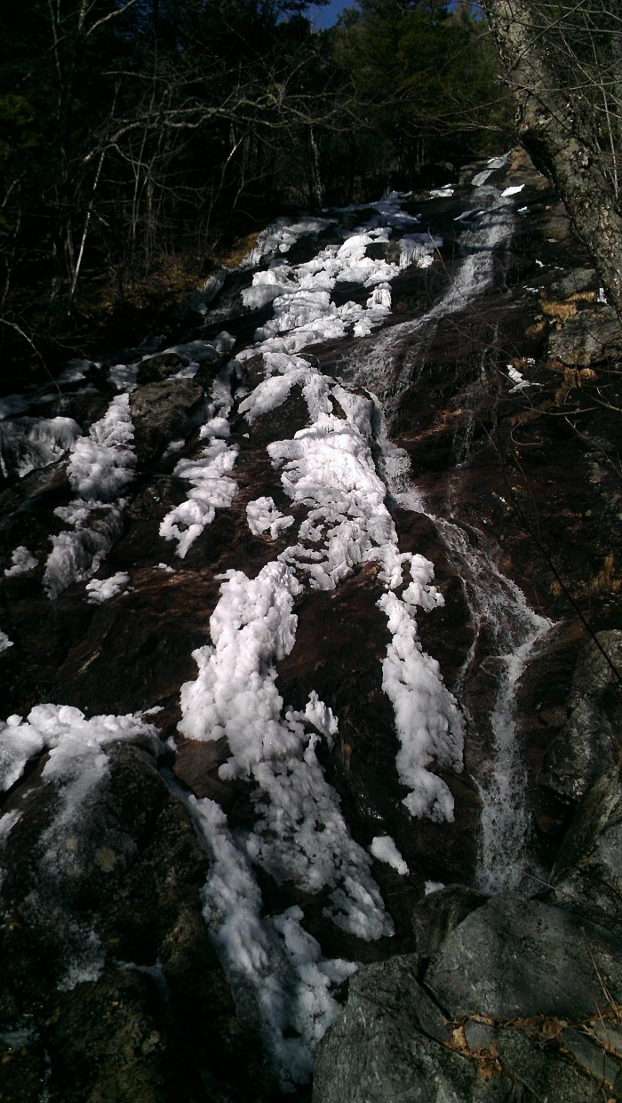 Snow and ice melting on Giant Fall.