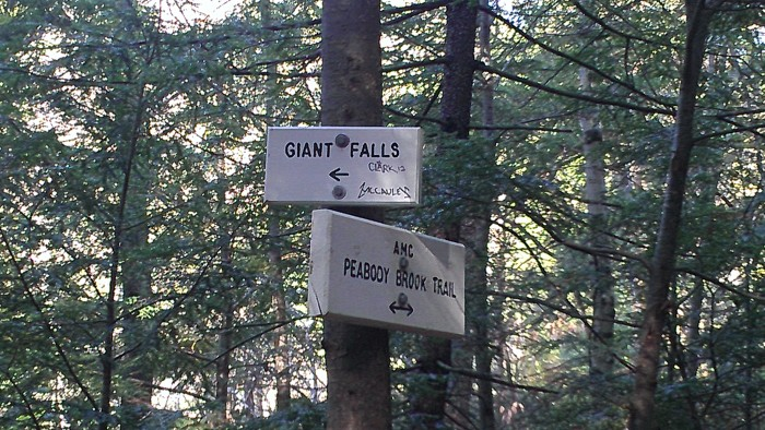 The junction down to view Giant Fall.