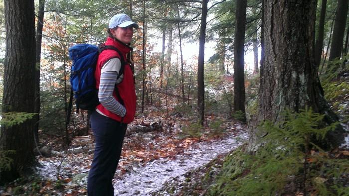 Lindsay on the Albany Notch Trail.