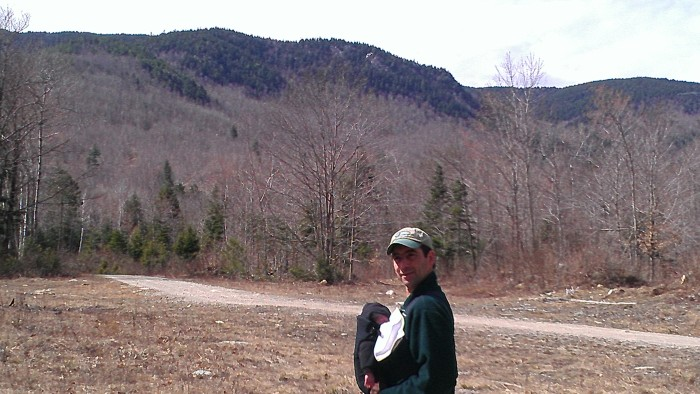 Andrew poses with Alden at the northern end of the trail.