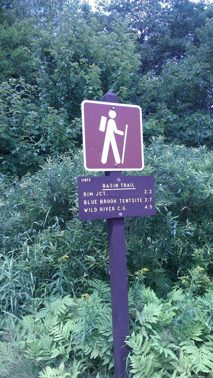 The Basin Trail to Hermit Falls.