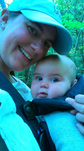 Alden is wide awake to start the hike.