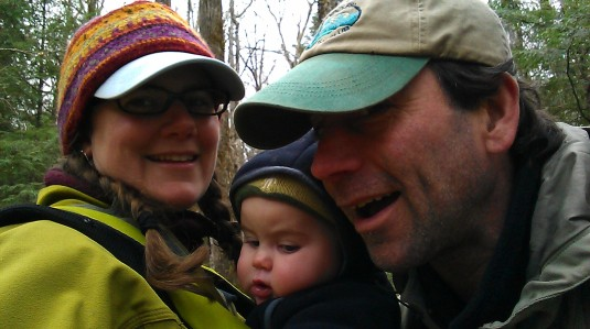 A family photo along the trail.