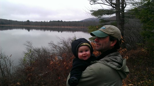 Andrew and Alden at Shell Pond.