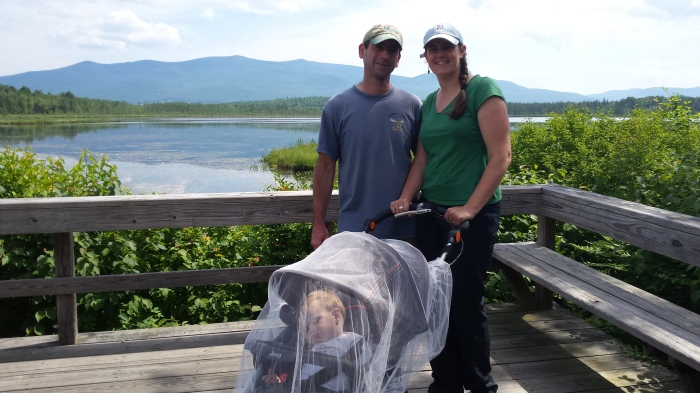 What a cute family photo! Shhh...Alden is sleeping under the mosquito netting.