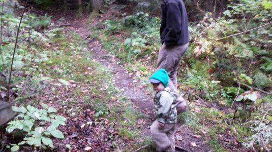 Alden hiking