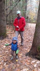Andrew and Alden hiking.