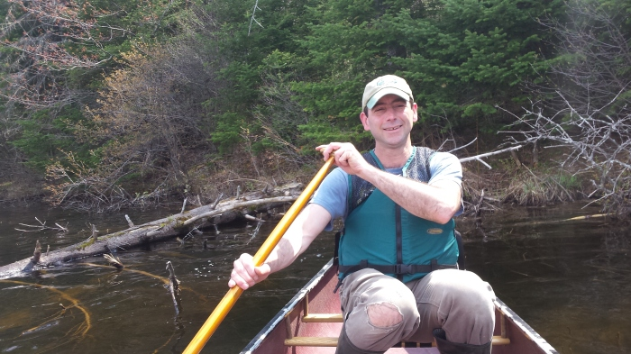 Andrew guides us on our wildlife viewing canoe ride.
