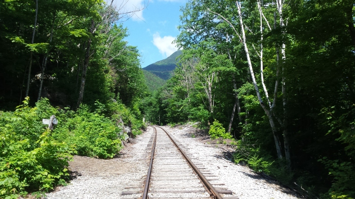 Train tracks through Crawford Notch.