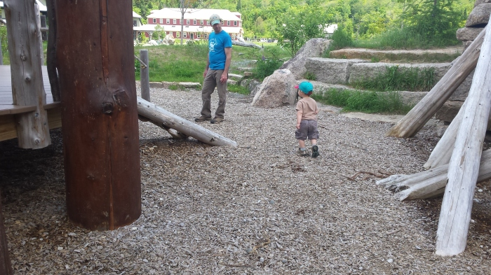 Playing in the playground is lots of fun.