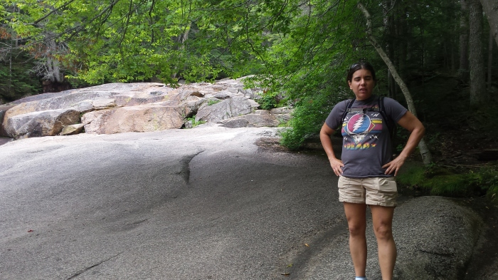Sarah at the cascades.