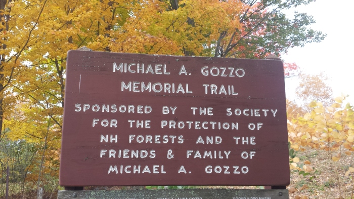 The Michael A. Gozzo Memorial Trail.